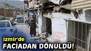 İzmir'de faciadan dönüldü! Belediye otobüsü evlere çarptı: 6 yaralı