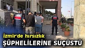 İzmir'de hırsızlık şüphelilerine suçüstü