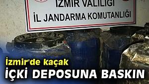 İzmir'de kaçak içki deposuna baskın