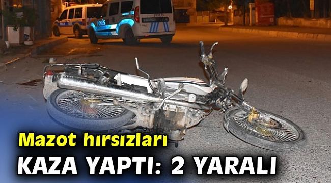 İzmir'de mazot hırsızları kaza yaptı!