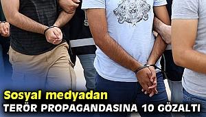 İzmir'de sosyal medyadan terör propagandasına 10 gözaltı