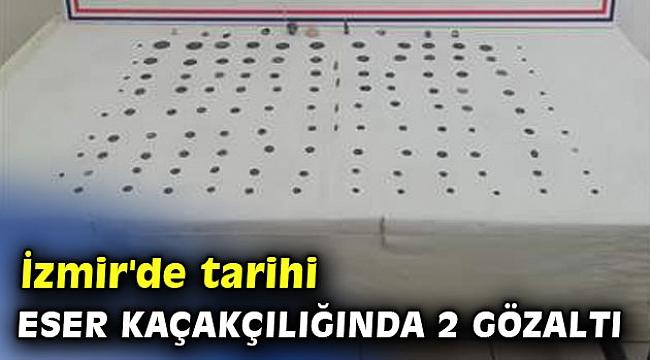 İzmir'de tarihi eser kaçakçılığında 2 gözaltı