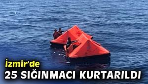 İzmir'de Türk kara sularına bırakılan 25 sığınmacı kurtarıldı