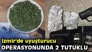 İzmir'de uyuşturucu operasyonunda 2 tutuklu