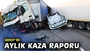 İzmir'in aylık kaza raporu açıklandı