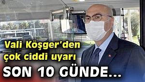 İzmirValisi Köşger'den Kovid-19 uyarısı