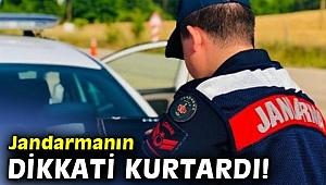 Jandarmanın dikkati anne ve kızına gasbı engelledi