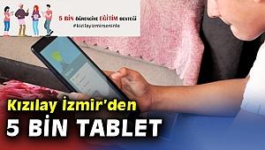 Kızılay İzmir'den öğrencilere 5 bin adet tablet