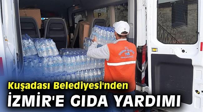 Kuşadası Belediyesi İzmir'e destek oluyor