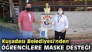 Kuşadası Belediyesi'nden öğrencilere maske desteği