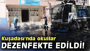 Kuşadası'nda okullar dezenfekte edildi!