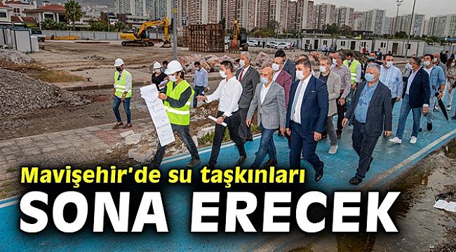 Mavişehir'de su taşkınları sona erecek