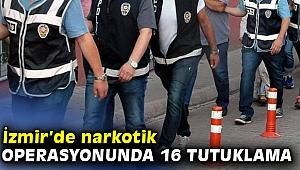 Narkotik operasyonunda 16 tutuklama