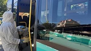 Ödemiş'te Koronavirüs önlemleri: Şehir içi minibüsleri dezenfekte ediliyor