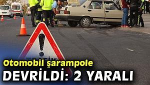Ootomobil şarampole devrildi: 2 yaralı