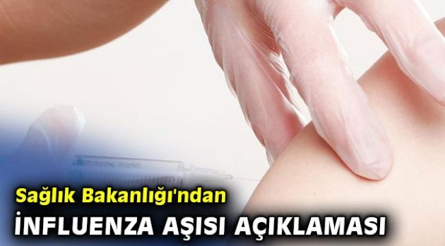 Sağlık Bakanlığı'ndan influenza aşısı açıklaması