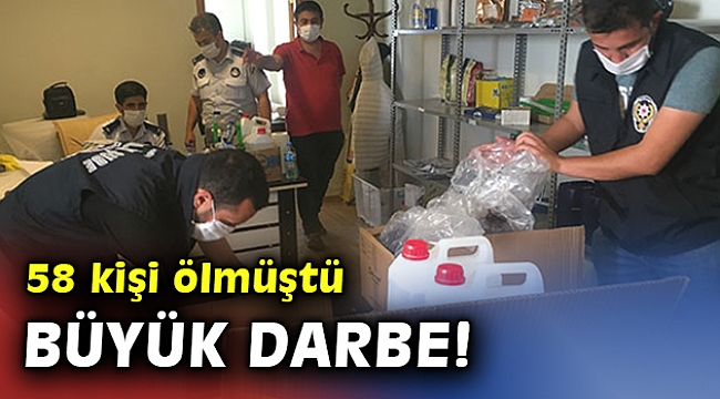 Sahte içki operasyonlarda yakalanan 296 şüpheliden 78'i tutuklandı