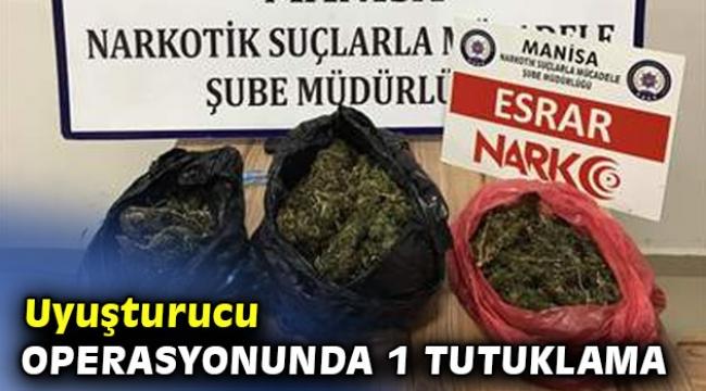 Uyuşturucu operasyonunda 1 tutuklama