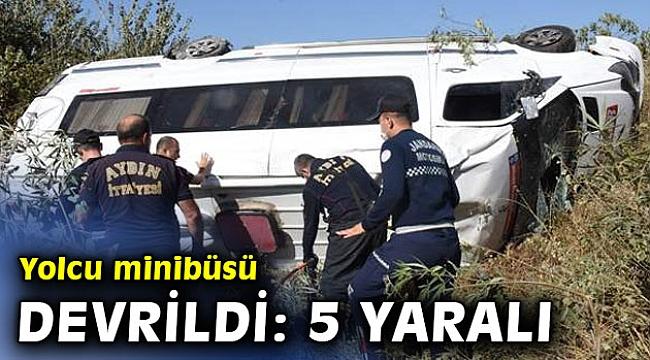 Yolcu minibüsü devrildi: 5 yaralı