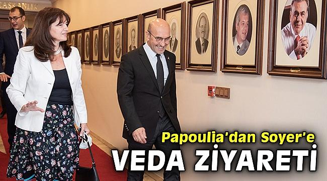 Yunanistan İzmir Başkonsolosu Papoulia'dan Soyer'e veda ziyareti