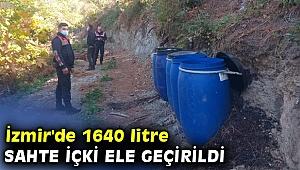 1640 litre sahte içki ele geçirildi