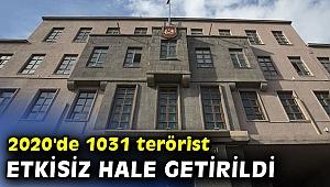 2020'de 1031 terörist etkisiz hale getirildi