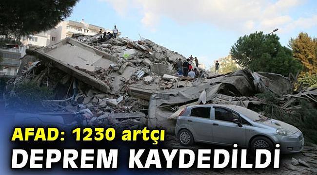 AFAD 1230 artçı deprem kaydedildiğini açıkladı!