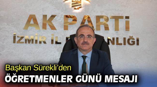 AK Partili Kerem Ali Sürekli'den Öğretmenler Günü mesajı