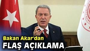 Bakan Akar'dan flaş açıklama! Bu sorunun askeri bir çözümü yok