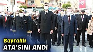 Bayraklı Mustafa Kemal Atatürk'ü andı