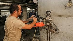 Bergama Belediye hizmet binasına deprem incelemesi
