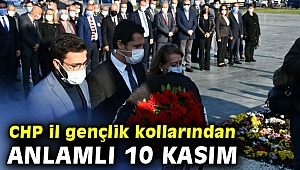 CHP İl Gençlik kollarından anlamlı 10 Kasım