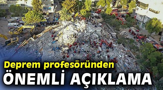Deprem profesöründen önemli açıklama