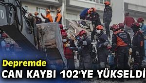 Depremde can kaybı 102'ye yükseldi