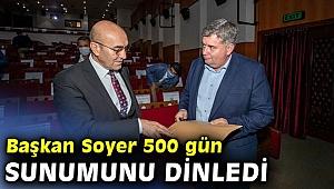 İlçe belediye başkanları 500 gün sunumu yaptı!