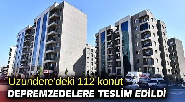 İzmir'de 112 konut depremzedelere teslim edildi