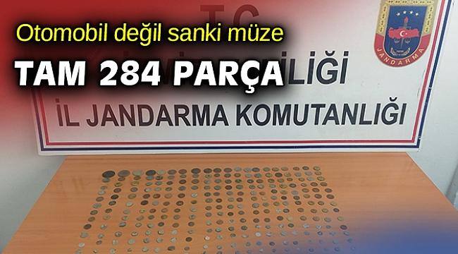 İzmir'de bir otomobilde 284 tarihi eser ele geçirildi