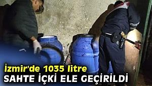 İzmir'de sahte içki operasyonu!