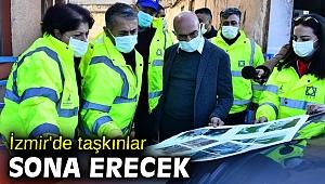 İzmir'de taşkınlar sona erecek