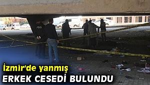 İzmir'de yanmış erkek cesedi bulundu