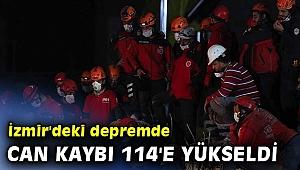 İzmir'deki depremde can kaybı 114 oldu!