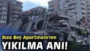 Rıza Bey Apartmanı'nın yıkılma anı!