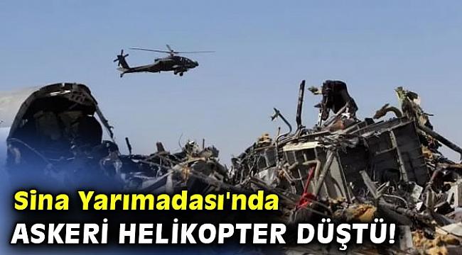 Sina Yarımadası'nda askeri helikopter düştü!