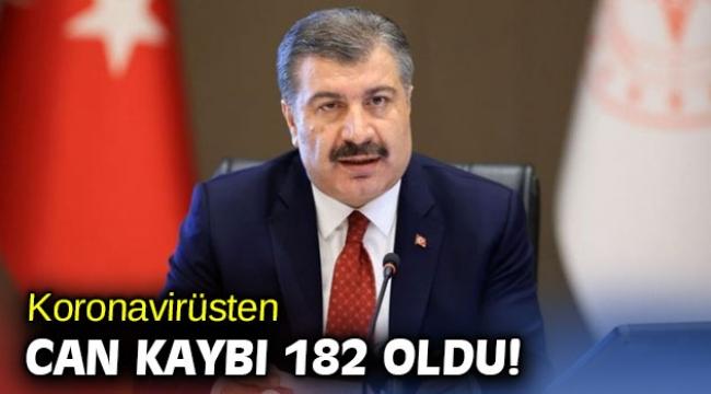 Türkiye'de koronavirüsten 182 kişi daha hayatını kaybetti!