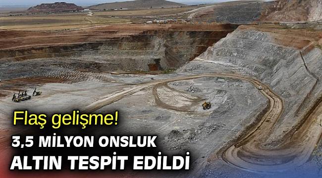 3,5 milyon onsluk altın tespit edildi