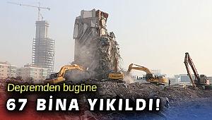 71 binadan 67'sinin yıkımı tamamlandı