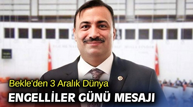 AK Partili vekil 'Dünyaya örnek bir engelli reformu gerçekleştirdik'
