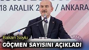 Bakan Soylu göçmen sayısını açıkladı