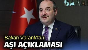 Bakan Varank'tan aşı açıklaması