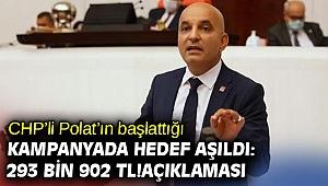 CHP'li Polat'ın başlattığı kampanyada hedef aşıldı: 293 bin 902 TL!